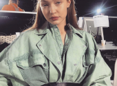 The Fashionable Way to Wear a Belt this Spring by Gigi Hadid