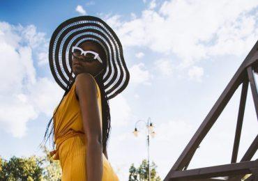 black girl in a yellow dress