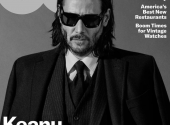 Keanu Reeves starred in a stylish black and white photoshoot