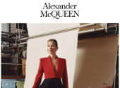 Kate Moss showed the trends of autumn 2019 in an advertisement by Alexander McQueen