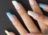 Another crazy beauty trend. Instagram's lipstick-shaped nails
