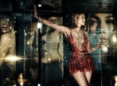 Jennifer Lopez became the face of Versace's new advertising campaign